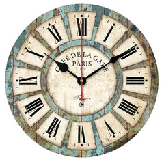 quality first European Style Vintage Creative Round Wood Wall Clock Quartz Bracket Clock-Dollar Bargains Online Shopping Australia
