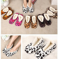 Home Soft Plush Leopard Slippers Coral Fleece Indoor Home Shoes,Floor Socks , Indoor Slippers Winter Foot Warmer 7 Color-Dollar Bargains Online Shopping Australia