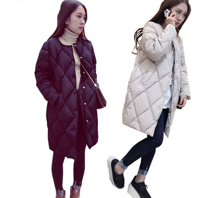 JY.Women's Cotton-padded Jacket Winter Medium-long Down Cotton Parkas Plus Size Coat Female Slim Ladies Jackets And Coats Z-Dollar Bargains Online Shopping Australia