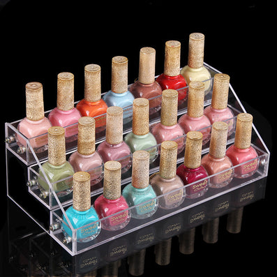 3 Layers Acrylic Nail Polish Display Stand Shelf Rack Makeup Organizer Boxes Cosmetics Storage Box Cosmetic Holder Organizer-Dollar Bargains Online Shopping Australia