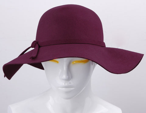 100% Pure Cashmere Wool Fedoras Solid Wide Large Brim Hats For Women Vintage Felt Floppy Hat DII-Dollar Bargains Online Shopping Australia