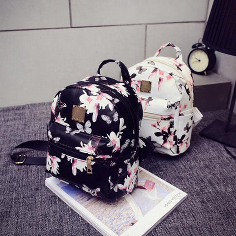 Women Backpack 2016 Hot Sale Fashion Causal Floral Printing Backpacks PU Leather Backpack For Teenagers Girls Mochilas Hot Sale - Dollar Bargains - 1