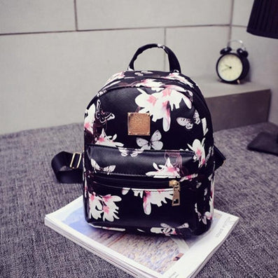 Women Backpack Fashion Causal Floral Printing Backpacks PU Leather Backpack For Teenagers Girls Mochilas-Dollar Bargains Online Shopping Australia