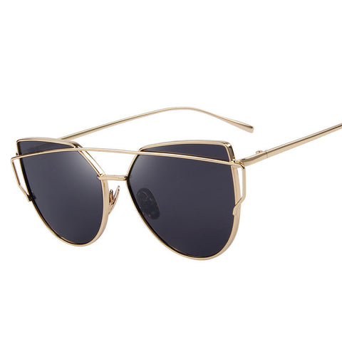 MERRY'S Fashion Women Cat Eye Sunglasses Classic Brand Designer Twin-Beams Sunglasses Coating Mirror Flat Panel Lens S'7882 - Dollar Bargains - 1