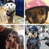 Handsome Biker hat Pets Helmets Ridding Cap ABS Doggie Puppy Motorcycle Protect for Sports Dog cat Costumes Accessories-Dollar Bargains Online Shopping Australia