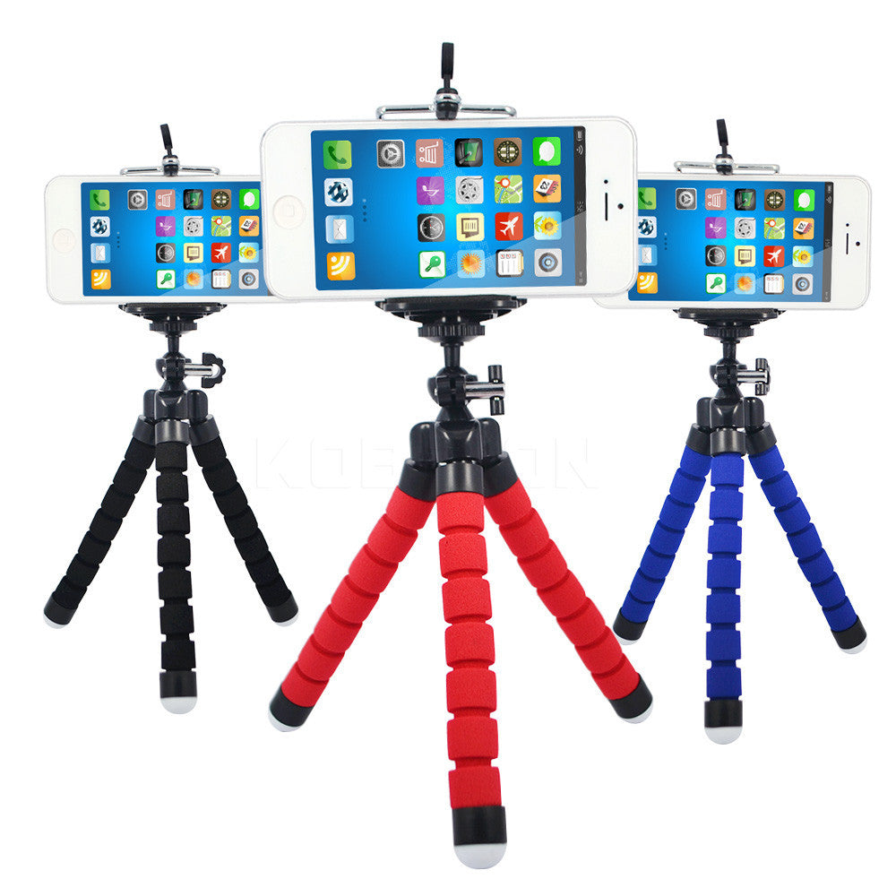 blackFlexible Holder Octopus Tripod Bracket Stand Mount Monopod Digital Camera for Gopro Hero 3 4 for iPhone 6 7 Huawei Phone s7 s8