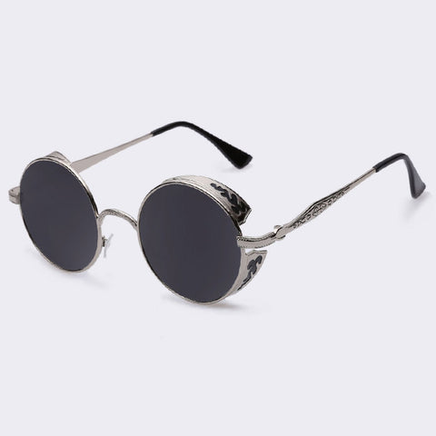 AOFLY Steampunk Vintage Sunglass Fashion round sunglasses women brand designer metal carving sun glasses men oculos de sol S1635 - Dollar Bargains - 9