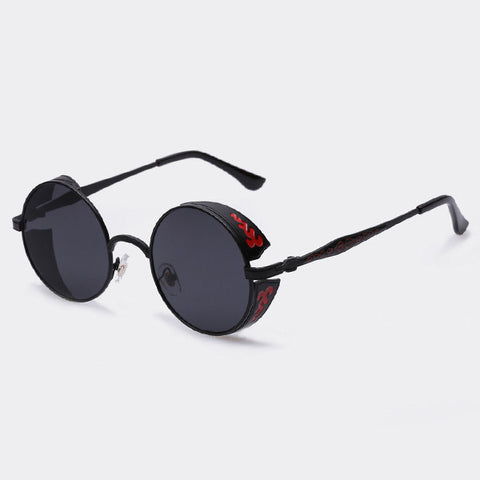 AOFLY Steampunk Vintage Sunglass Fashion round sunglasses women brand designer metal carving sun glasses men oculos de sol S1635 - Dollar Bargains - 7