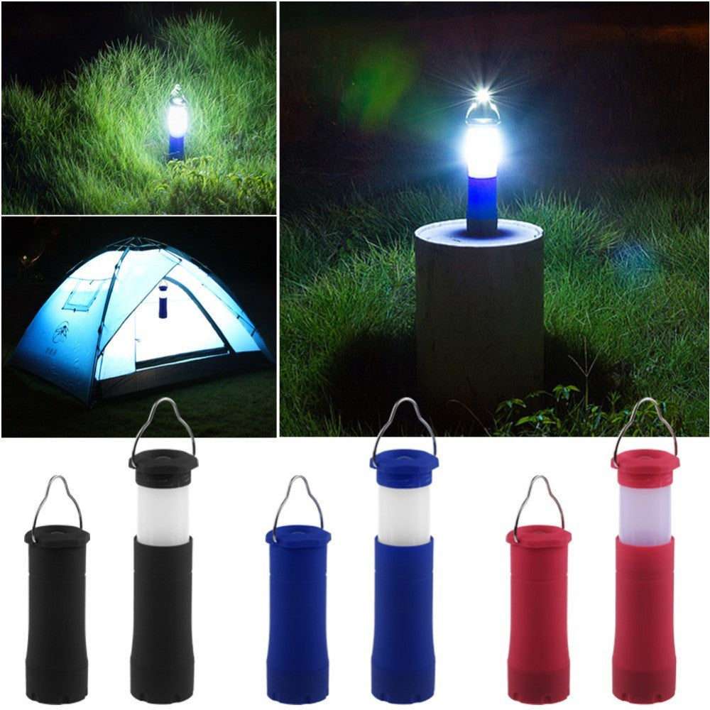 Red3 Colors 3W Tent Camping Lantern Light Hiking LED Flashlight Torch Outdoor Lamp