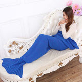 yarn knitted Mermaid Tail blanket handmade crochet mermaid blanket adult throw bed Wrap super soft sleeping bag 90cm 195cm-Dollar Bargains Online Shopping Australia