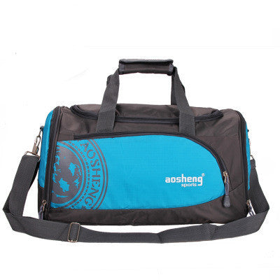 BlueNylon Outdoor Male Sport Bag Professional Men And Women Fitness Shoulder Gym Bag Training Female Yoga Duffel Bag