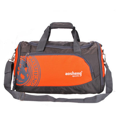 OrangeNylon Outdoor Male Sport Bag Professional Men And Women Fitness Shoulder Gym Bag Training Female Yoga Duffel Bag