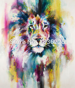1 Panel Modern Animal Lion king Oil painting on canvas wall decoration Home wall art picture painting on canvas-Dollar Bargains Online Shopping Australia