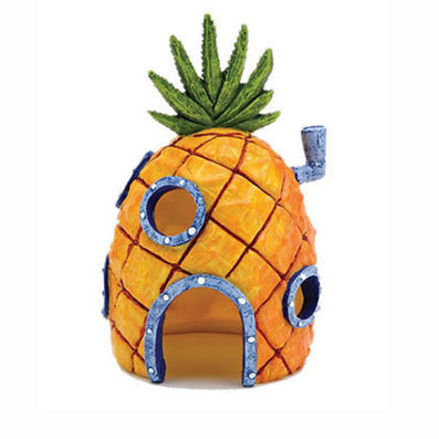 hot Mini Pineapple Cartoon House Home Fish Tank Aquarium Ornament Decorations Escape Hole-Dollar Bargains Online Shopping Australia