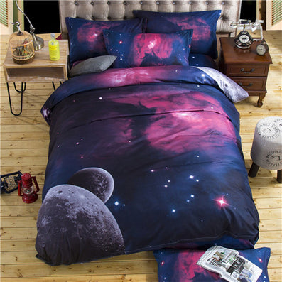 3d galaxy bedding sets twinqueen size universe outer space themed bedspread 2pcs3pcs - Space Bedding