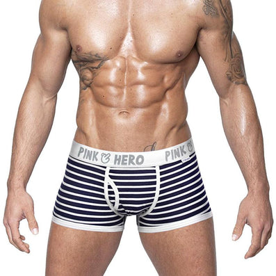 Comfortable Panties Men Male Underwear Men's Boxer Underwear Sexy Striped Cotton Man Underwear Boxer Fringe Underpants-Dollar Bargains Online Shopping Australia