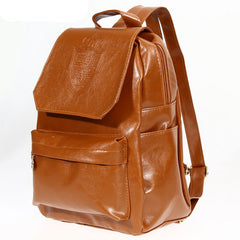 Fashion Oil Leather Backpack Women School Bags for Teenagers PU Leather Backpack 4 Colors Travel Bag Pouch Mochila Feminina-Dollar Bargains Online Shopping Australia