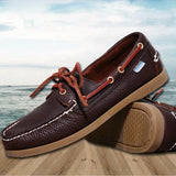 Spring /Autumn Fashion Casual Men's Boat shoes European style Lace-up Flat Round toe lightweight men's shoes-Dollar Bargains Online Shopping Australia