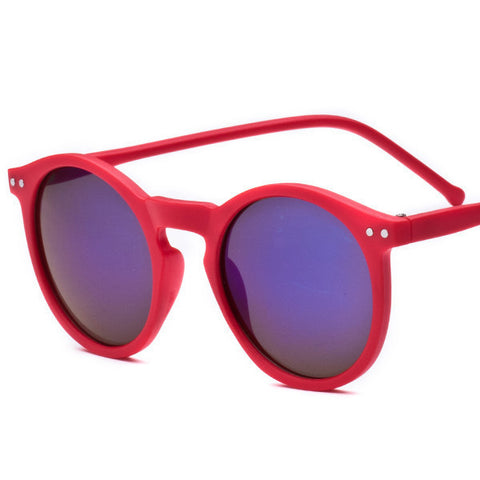 Brand Designer Ellipse Shape Multiple Color Reflective Sunglasses Women Vintage Keyhole Mirror Glasses oculos feminino MA019 - Dollar Bargains - 9