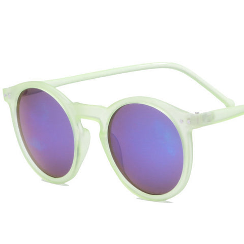 Brand Designer Ellipse Shape Multiple Color Reflective Sunglasses Women Vintage Keyhole Mirror Glasses oculos feminino MA019 - Dollar Bargains - 11