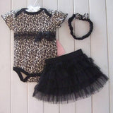1 Set Newborn Infant Baby's Sets Girl Polka Dot Headband + Romper + TUTU Skirt Outfit Baby - Dollar Bargains - 1