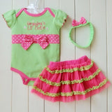 1 Set Newborn Infant Baby's Sets Girl Polka Dot Headband + Romper + TUTU Skirt Outfit Baby - Dollar Bargains - 3