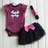 1 Set Newborn Infant Baby's Sets Girl Polka Dot Headband + Romper + TUTU Skirt Outfit Baby - Dollar Bargains - 4