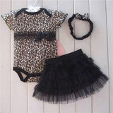 1 Set Newborn Infant Baby's Sets Girl Polka Dot Headband + Romper + TUTU Skirt Outfit Baby - Dollar Bargains - 6