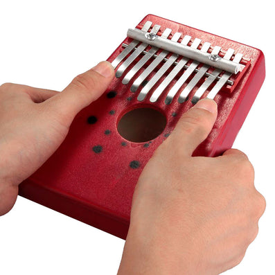 Red 10Keys Kalimba Thumb Piano Traditional Musical Instrument Portable Great Gift-Dollar Bargains Online Shopping Australia