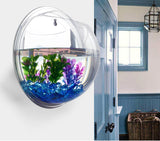 Acrylic Transparent Wall Plant Hanging Vase Wall Aquarium Bowl Fish Tank Aquarium Home Decoration Plant Pot-Dollar Bargains Online Shopping Australia