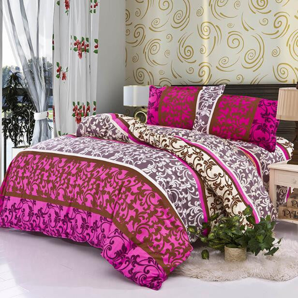 3 / 4Pcs King 220X240cm3/4Pcs Bedding-set Family Cotton Bedding Set Bed Sheets Duvet Cover King Size Linens Quilt Pillow Bedspread No Cotton Comforter