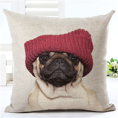450mm*450mm / 2435aAnimal cushion cover Dog for children Decorative Cushion Covers for Sofa Throw Pillow Car Chair Home Decor Pillow Case almofadas