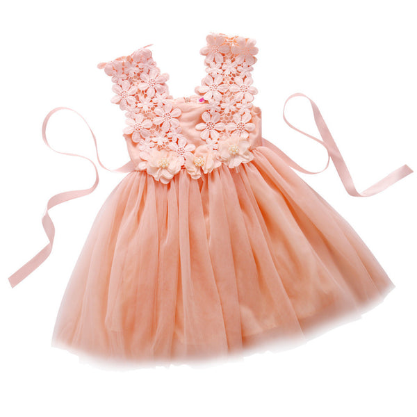 612b2da4f2b0d Summer Baby Girl Dress Lace Flower Baby Girl Clothes Princess Tutu  Children's Dresses vestidos infantis girls tutu dress