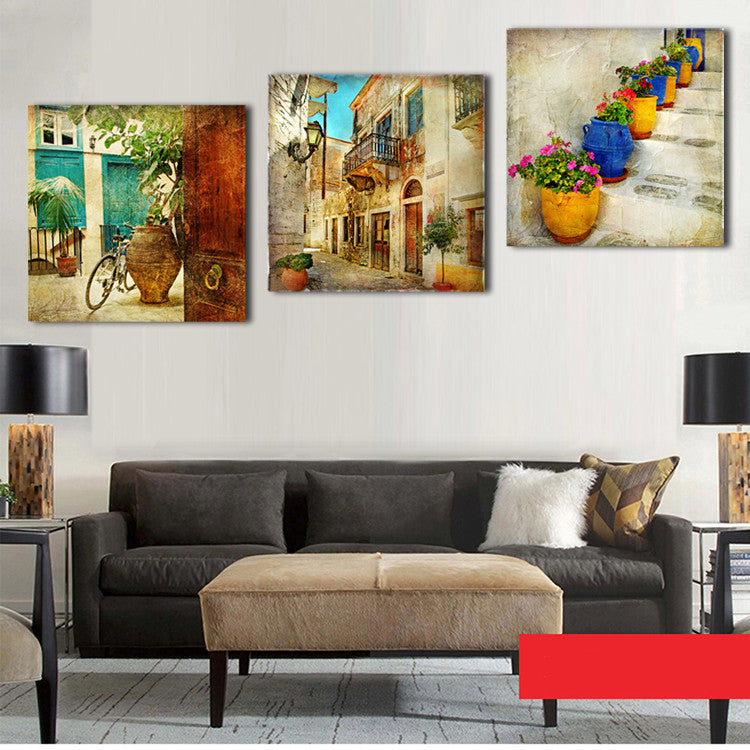 3 Panels Oil Canvas Paintings Gardening Home Decoration Wall Art Canva Dollar Bargains