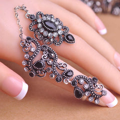 Carved Flowers Vintage Pretty Exquisite Mid Rings Fashion Turkish Jewelry-Dollar Bargains Online Shopping Australia