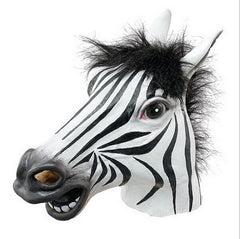 Fun Halloween mask realistic latex horse head /Interesting funny party masquerade masks silicone face Zebra mask-Dollar Bargains Online Shopping Australia