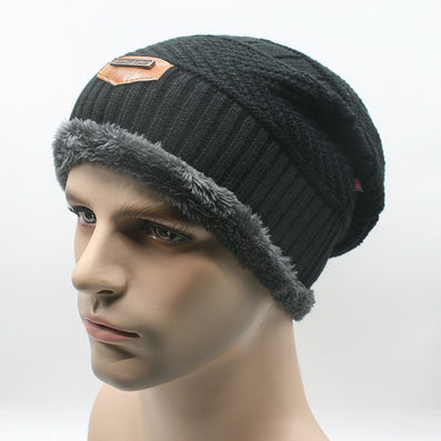 Brand Beanies Knit Men's Winter Hat Caps Skullies Bonnet Winter Hats For Men Women Beanie Fur Warm Baggy Wool Knitted Hat-Dollar Bargains Online Shopping Australia