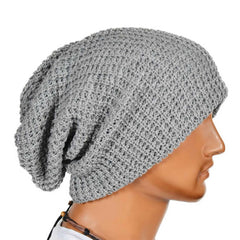 Chic Men Women Warm Winter Knit Ski Beanies Skull Bandana Slouchy Oversized Cap Sport Hat Unisex Bonnet-Dollar Bargains Online Shopping Australia