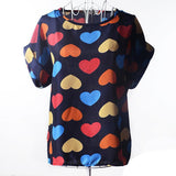 European and American plus size women clothing heart printing t shirt women short-sleeved women tops summer roupas femininas-Dollar Bargains Online Shopping Australia