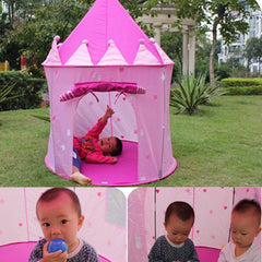 Portable Pink Children Kids Play Tents Outdoor Garden Folding Toy Tent Pop Up Kids Girl Princess Castle Outdoor House Kids Tent-Dollar Bargains Online Shopping Australia