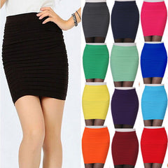 Fashion Women Ladies Sexy Pencil Skirt Seamless Elastic Pleated High Waist Slim Mini Skirts For Office Party Z2-Dollar Bargains Online Shopping Australia