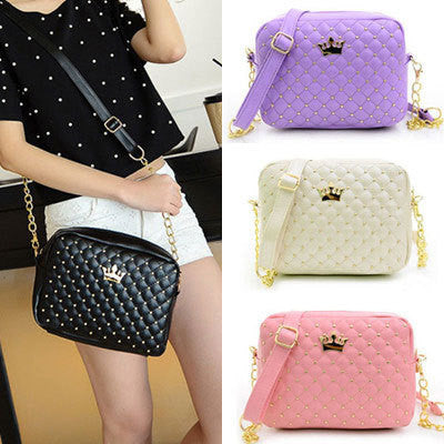 2015 Women Bag Fashion Women Messenger Bags Rivet Chain Shoulder Bag High Quality PU Leather Crossbody N0310 - Dollar Bargains - 1
