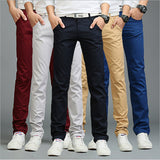 9 colors summer autumn fashion business or casual style pants men slim straight casual long pants fashion multicolor men pants-Dollar Bargains Online Shopping Australia