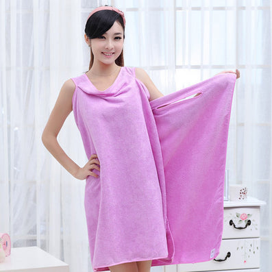e29cc54ace Bath Towels Fashion Lady Girls Wearable Fast Drying Magic Bath Towel Beach  Spa Bathrobes Bath Skirt
