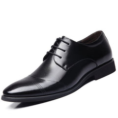 New Business Dress Shoes Wedding Pointed Toe Fashion Genuine Leather Shoes Flats Oxford Shoes For Men Black Brown BRM-436-Dollar Bargains Online Shopping Australia