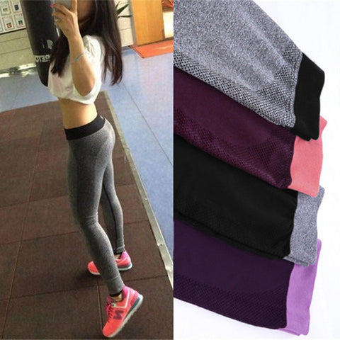 S-XL 4 Colors Women's Legging Fashion Workout Polyester Bodybuilding High Waist Clothing Elastic Leggings 9e 6a - Dollar Bargains - 1