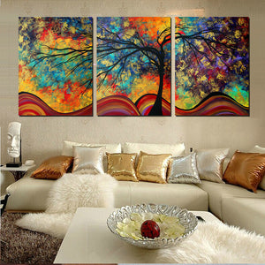 Large Wall Art Home Decor Abstract Tree Painting Colorful Landscape Paintings Canvas Picture For Living Room Decoration No Frame-Dollar Bargains Online Shopping Australia
