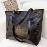 Black Casual Women Shoulder Bags PU Leather Female Big Tote Bags for Ladies Handbag Large Capacity sac a main femme de marque - Dollar Bargains - 2