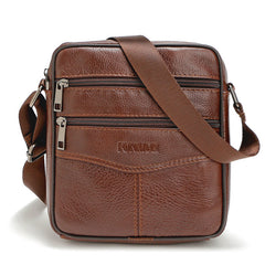 a9b9d4259206 High quality Brand Genuine Leather bag Vintage Designer Men Crossbody bags  Cowhide leather small messenger bag