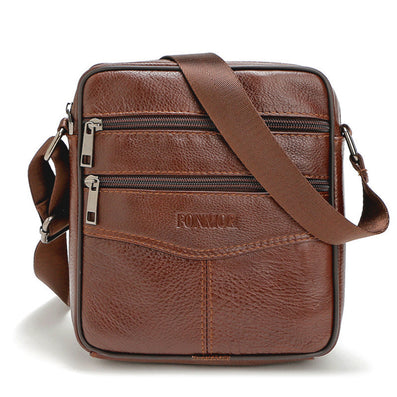 High quality Brand Genuine Leather bag Vintage Designer Men Crossbody bags Cowhide leather small messenger bag for man-Dollar Bargains Online Shopping Australia